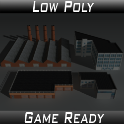 Factory Building Set 04
