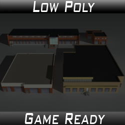 Factory Building Set 05