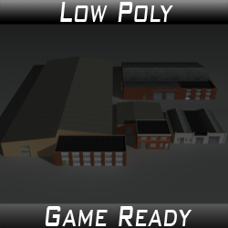 Factory Building Set 06