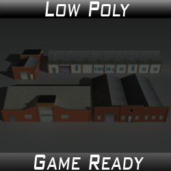 Factory Building Set 08